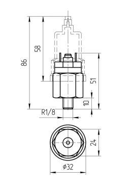 Габаритные размеры реле давления QPM-11