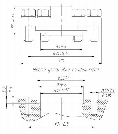 Габаритные размеры разделителей РМ-5322М