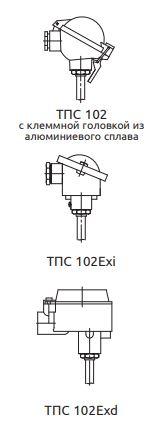 Конструктивное исполнение (рисунок) термопреобразователей ТПС-102-Exd,-Exi