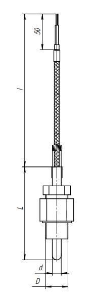 Конструктивное исполнение (рисунок) термопреобразователя ТПС-305(Exi)