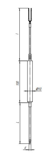 Конструктивное исполнение (рисунок) термопреобразователей ТПС-307(Exi)