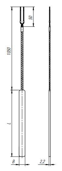 Конструктивное исполнение (рисунок) термопреобразователей ТПС-308(Exi)
