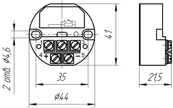 Габариты. Преобразователь VME-100-1 (с выходом 4-20мА)