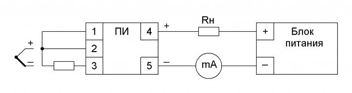 Схема. VME-100 (с выходом 4-20мА)