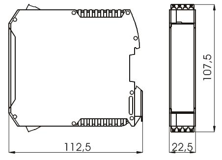 Габариты. Исполнение для щитового монтажа VME-103/104-4, VME-Exi-105-4