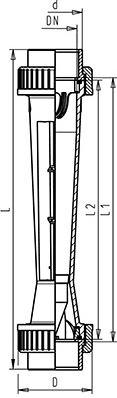 Габаритные размеры ротаметров GF-350