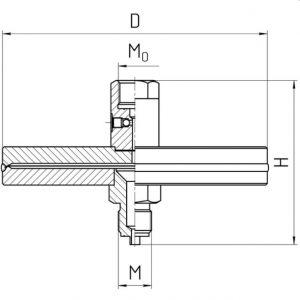 Габаритные размеры разделителя РС-25