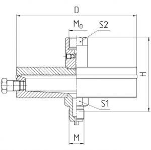 Габаритные размеры разделителя РС-25-П