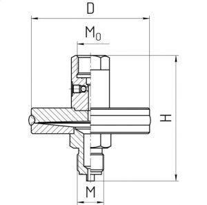 Габаритные размеры разделителя РС-50