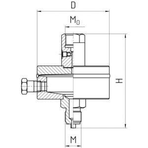 Габаритные размеры разделителя РС-50-П