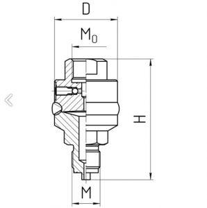 Габаритные размеры разделителя РС-600