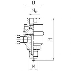 Габаритные размеры разделителя РС-600-П