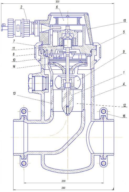 Параметры и габаритные размеры счетчиков ТОР-1-50, ТОР-1-80