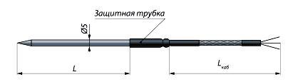 Конструктивное исполнение (рисунок) термопреобразователя ТС-0295-2