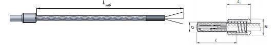 Конструктивное исполнение термометра сопротивления ТС-1388/1 IP67 вибропрочное исполнение