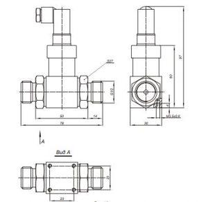 Габаритные и монтажные размеры датчиков Корунд-ДДН-001-М325)