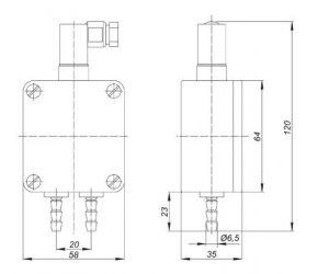 Габаритные и монтажные размеры датчиков Корунд-ДДН-001-М3х (кроме модели 325)