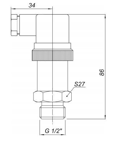 Габаритные размеры датчиков давления Корунд-ДИ/ДА/ДР/ДИВ-001А