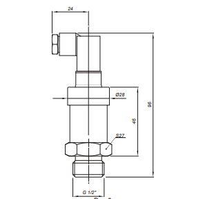 Габаритные и монтажные размеры датчиков Корунд-ДИ-001-М325; Корунд-ДА-001-М325; Корунд-ДР-001-М325; Корунд-ДИВ-001-М325