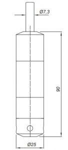 Габаритные размеры датчиков уровня Корунд-ДИГ-001К