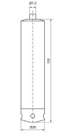 Габаритные размеры датчиков уровня Корунд-ДИГ-001М-556