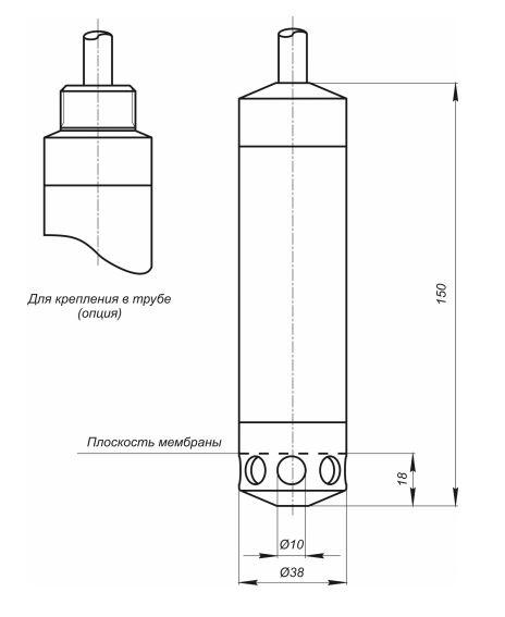 Габаритные размеры датчиков уровня Корунд-ДИГ-001М-556Д