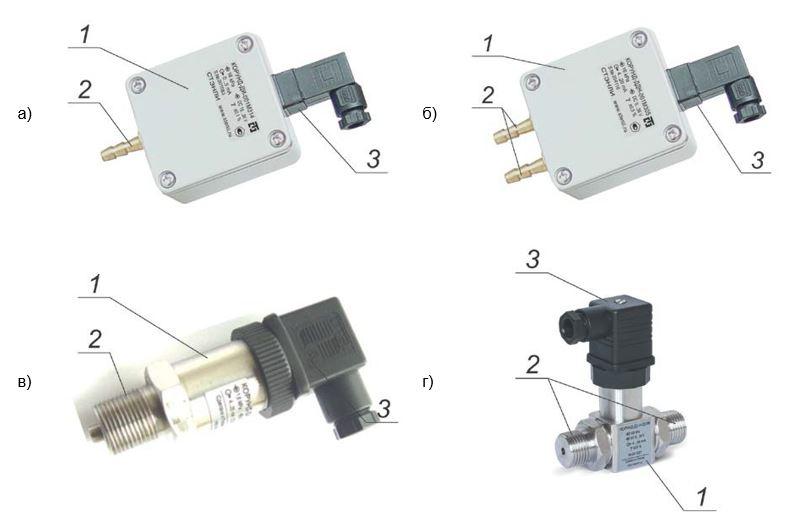 Внешний вид датчиков давления Корунд-ДХХ-001М-3ХХ