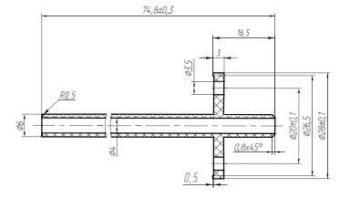 Габаритные размерыкомплекта для монтажа ПД150РД30