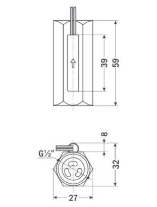 Реле потока поршневое подпружиненное ДР-ПП-32-15