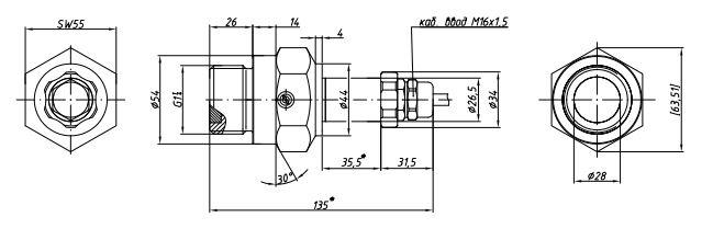 Габаритные размеры-2 датчиков давления APZ-3420v