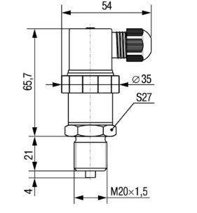 Габаритные размеры датчиков ПД100И-111/171.181