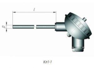Конструктивное исполнение термометров сопротивления ТСМ,ТСП-Кл1-1