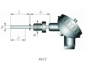 Конструктивное исполнение термометров сопротивления ТСМ,ТСП-Кл1-2