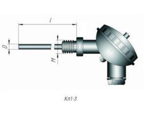 Конструктивное исполнение термометров сопротивления ТСМ,ТСП-Кл1-3
