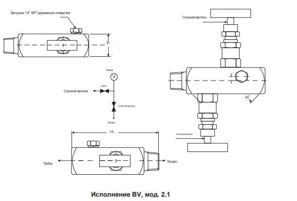 Двухвентильный блок BV-2.1