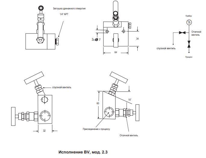 Двухвентильный блок BV-2.3