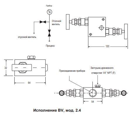 Двухвентильный блок BV-2.4