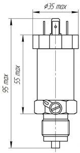 Габаритные размеры датчика давления ЭнИ-12М-ДИ