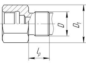 Исполнение уплотнительных поверхностей гильз ГТ-701, ГТ-701М, рисунок 1