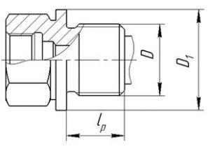 Исполнение уплотнительных поверхностей гильз ГТ-701, ГТ-701М, рисунок 2