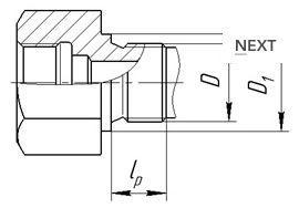 Исполнение уплотнительных поверхностей гильз ГТ-701, ГТ-701М, рисунок 3