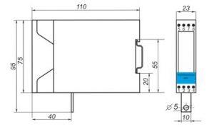 Габаритные размеры барьера искрозащиты Корунд-М720
