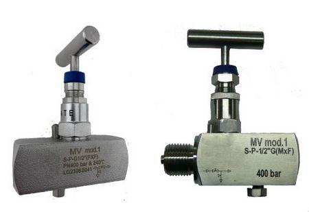 Манометрический вентиль MV-400/600/1000 бар