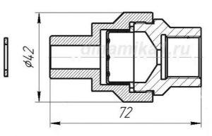 Габаритные размеры разделителя сред РС-21-01
