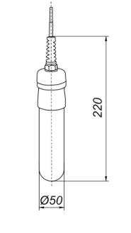 Габаритные размеры сигнализатора уровня СУ-ГП2