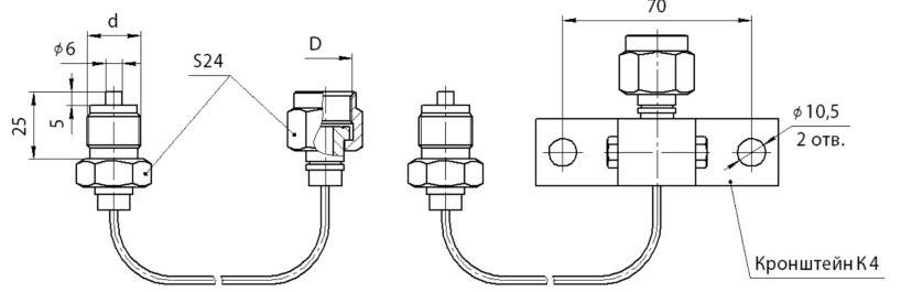 Линии импульсные ЛИ и капиллярные ЛК, габариты