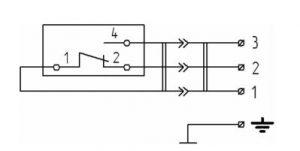 Схема соединений реле РТ-307-Exd