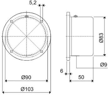 Габаритные размеры мембранных сигнализаторов уровня SOLIBA MS