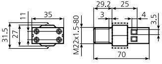 Габаритные размеры ТРМ11